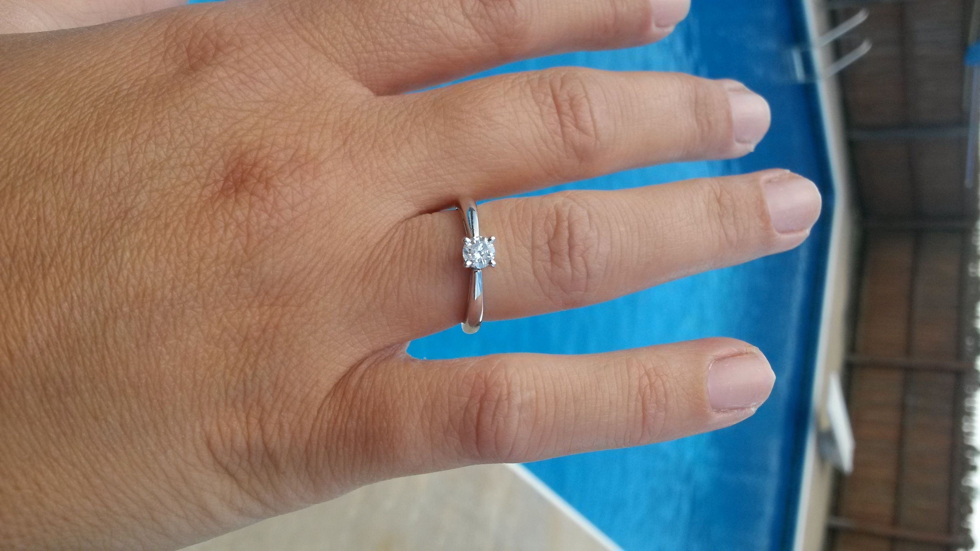 1 3 Carat Diamond Ring On Finger