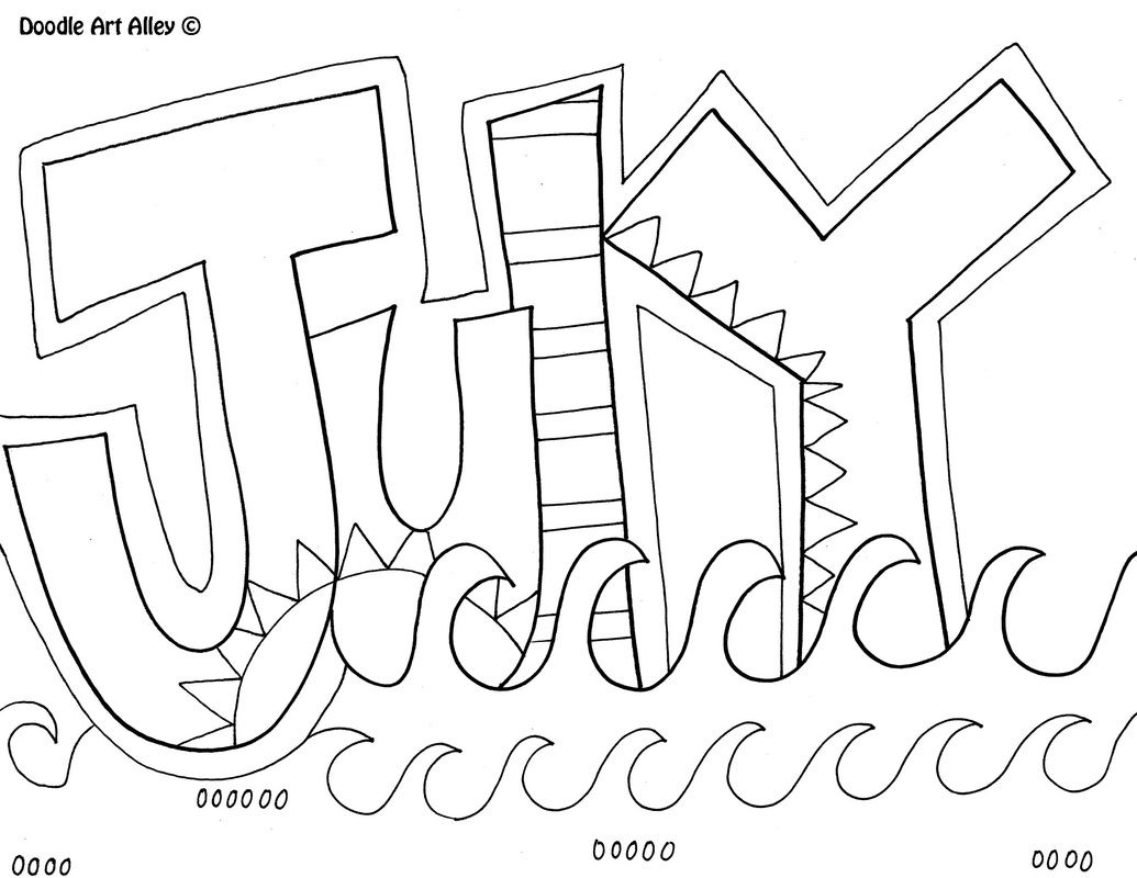 July Coloring Page Kids