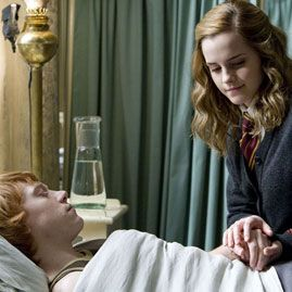Hermione and Ron on Harry Potter and  The Half Blood Prince