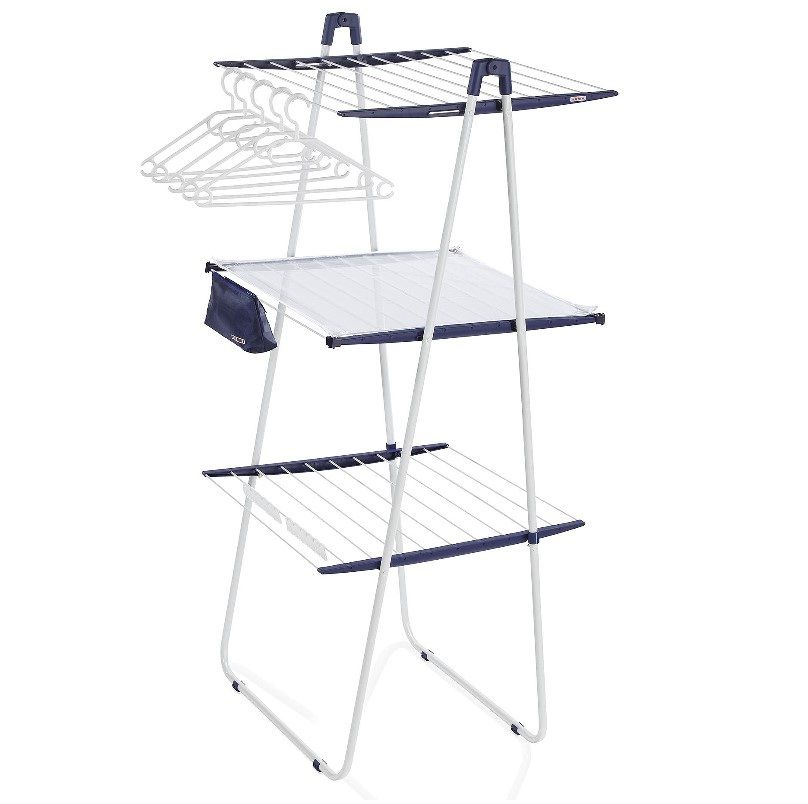 Leifheit Portable Drying Rack Tower 200 Deluxe Clothes Dryer Has