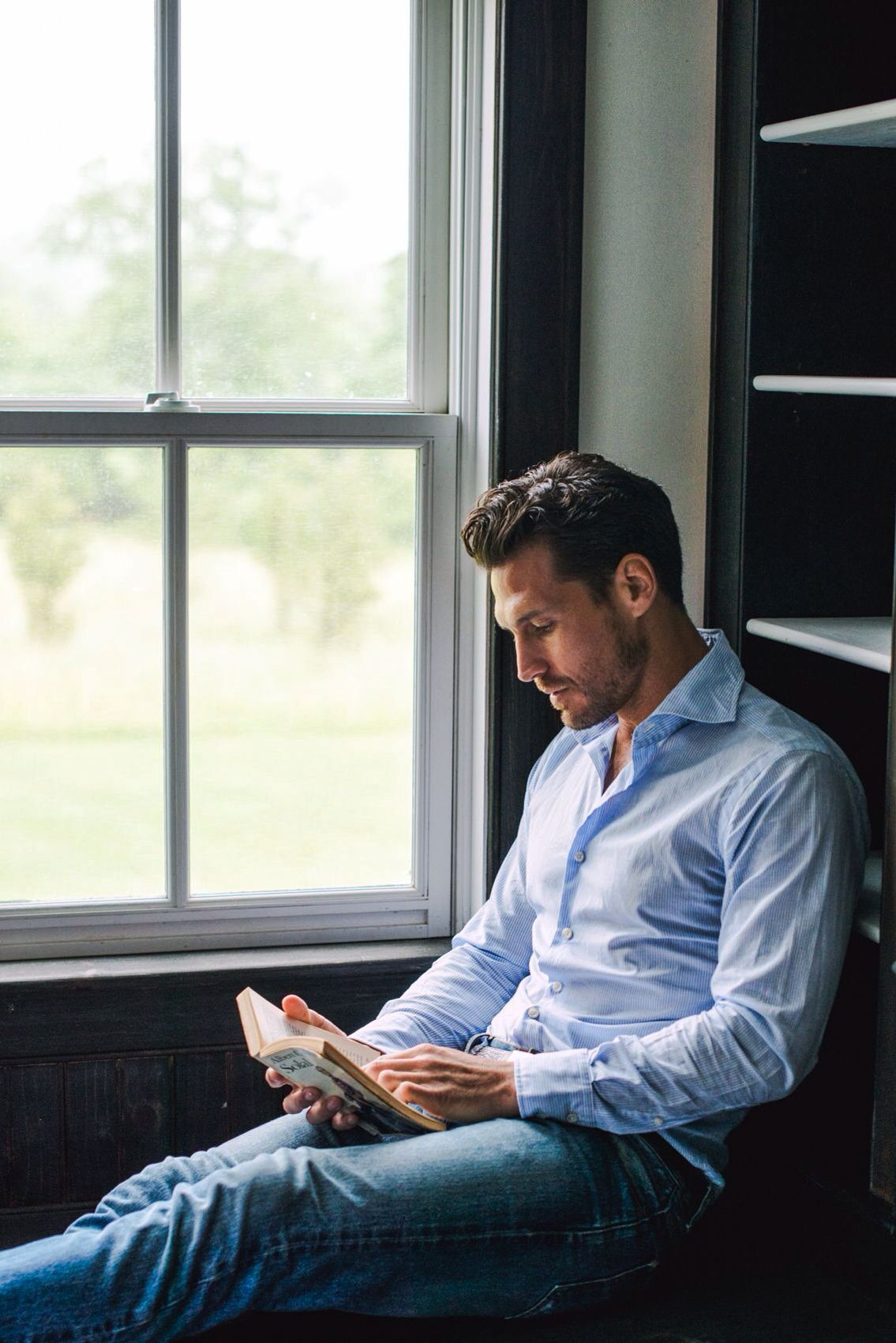 Pin on Reading by a window