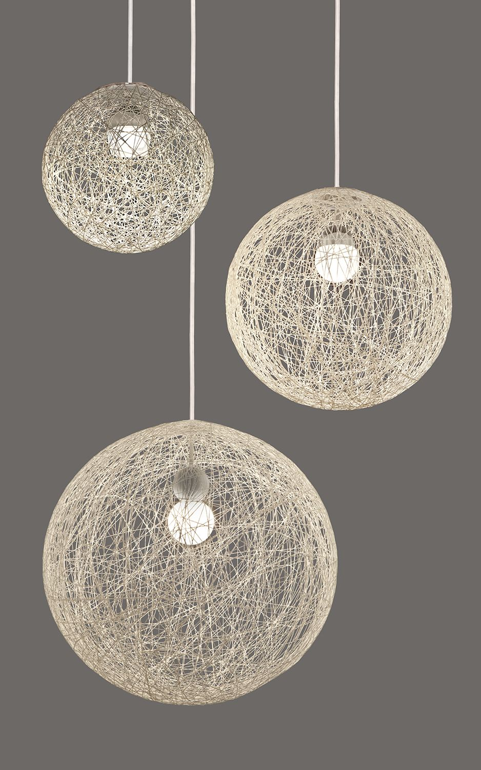 Led Pendants With Labyrinth Orb Shades