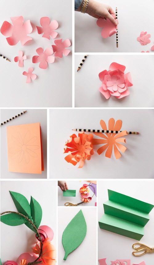 comment faire une couronne de fleur papier deco maison. Black Bedroom Furniture Sets. Home Design Ideas