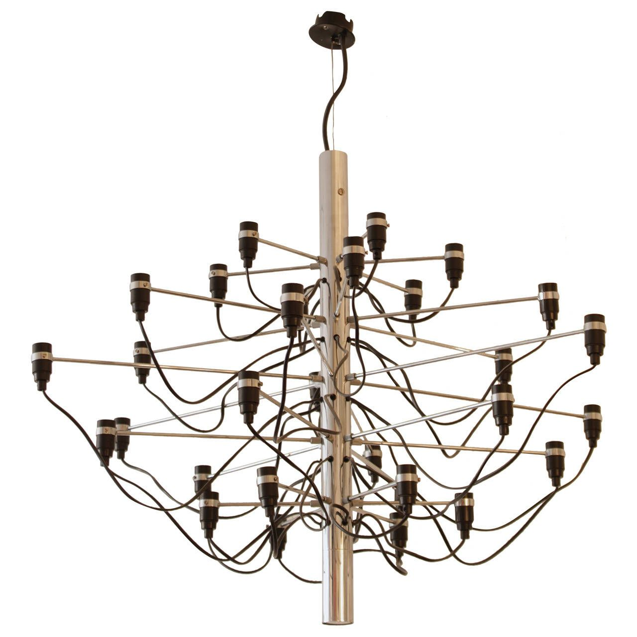 Vintage Gino Sarfatti 2097 Chandelier By Arteluce 1958 From A Unique Collection