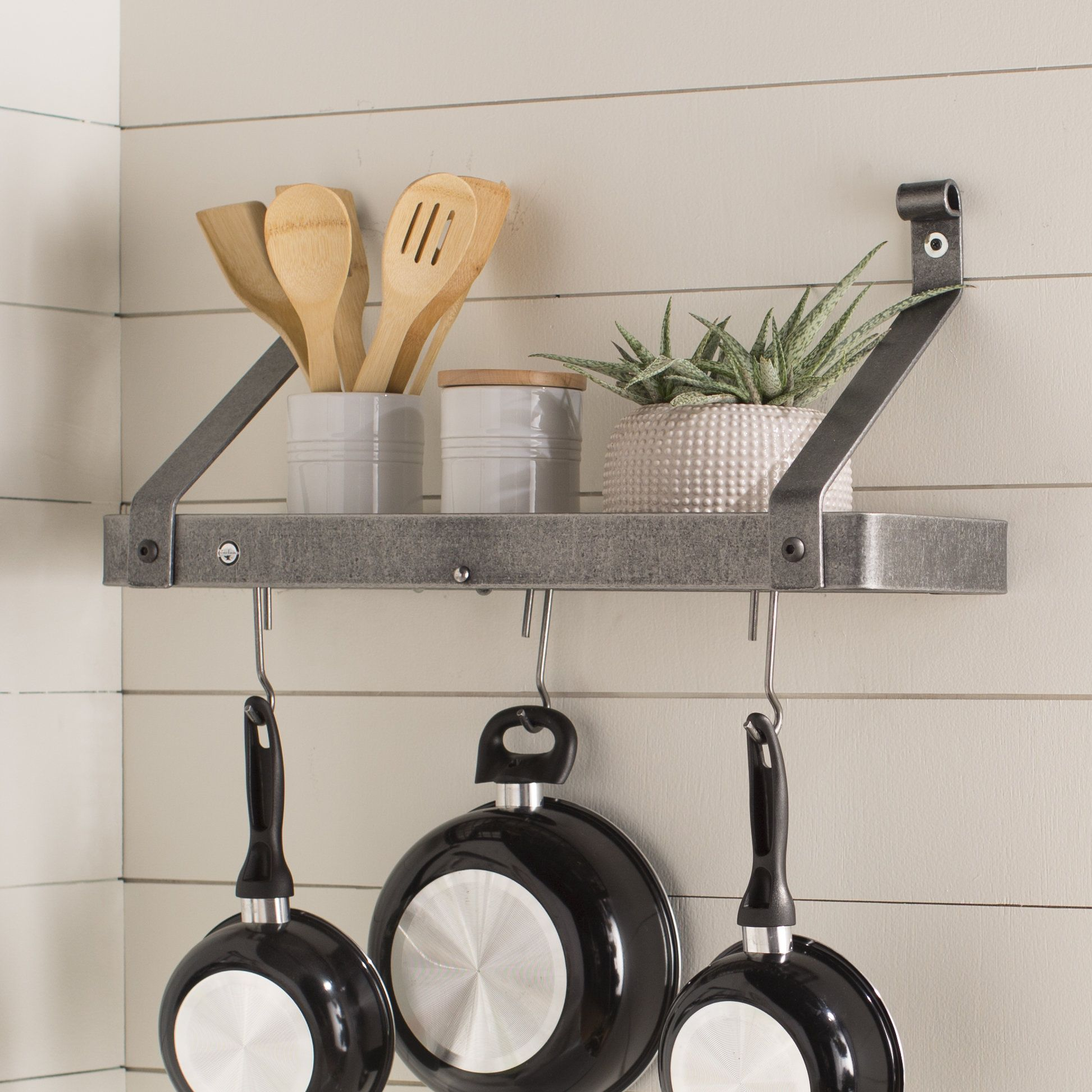 Usa Handcrafted Gourmet Wall Mounted Pot Rack Products