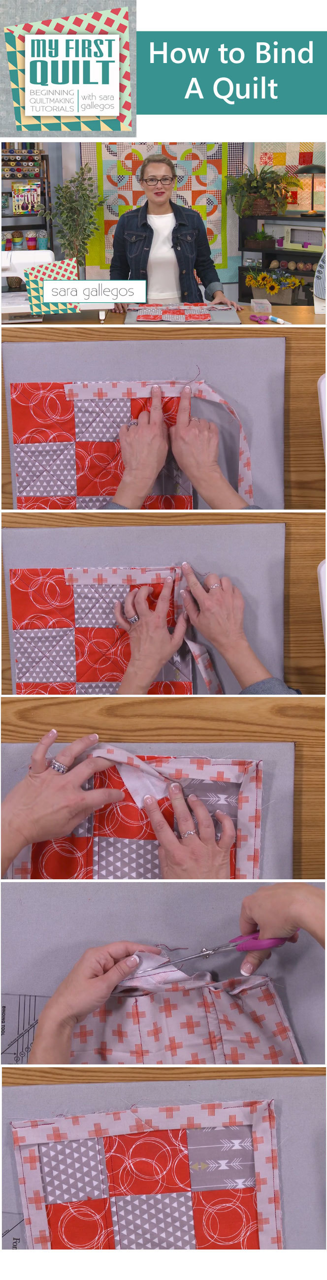 Watch and learn how to bind a quilt from Sara Gallegos in this ... : how to bind a quilt video - Adamdwight.com