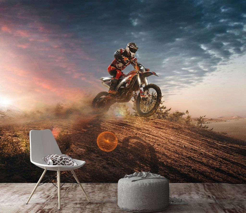 3D Motorcycle Extreme Sport 7454 AJ Wallpaper 3d wall