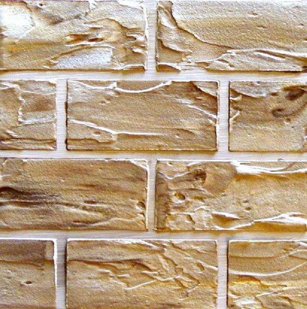 Wanddeko selber machen gef lschte backsteinwand als rustikale dekoration k chen pinterest - Backsteinwand imitat ...