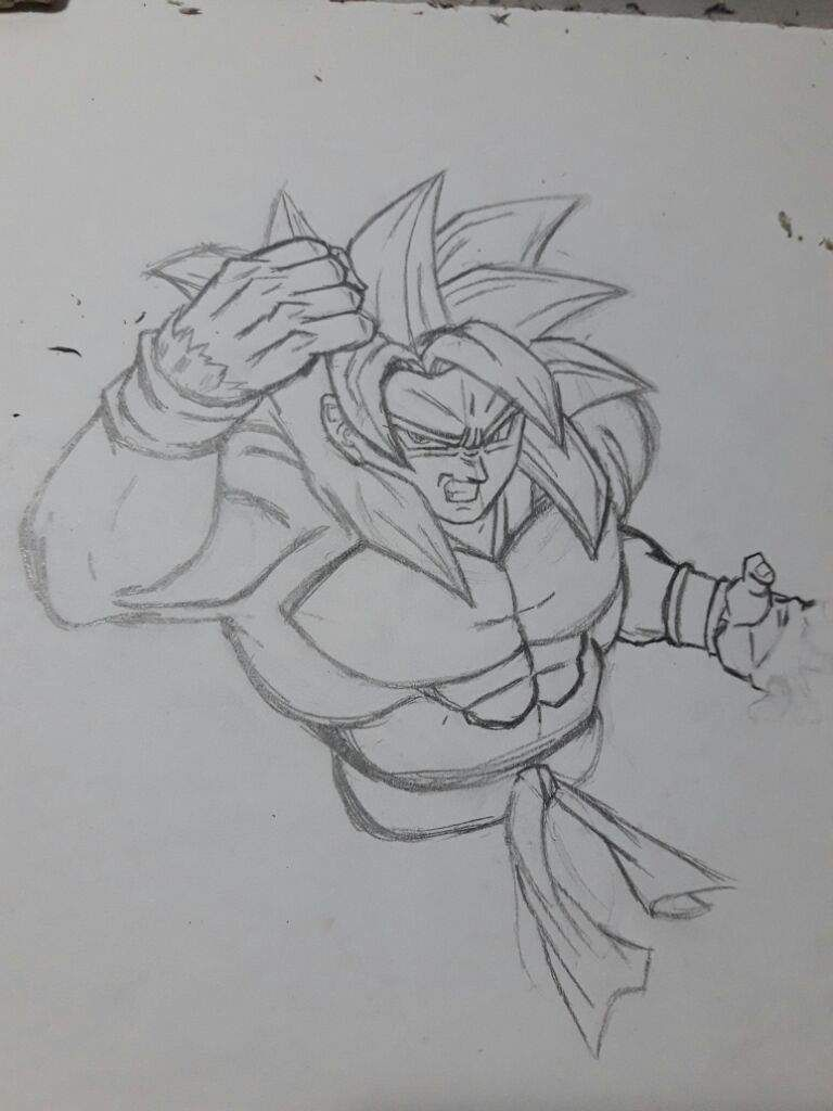 Super Saiyan 4 Goku drawing sketch | Projects to try | Pinterest ...