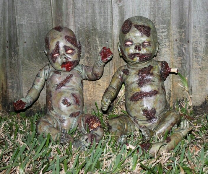 Zombie Baby Dolls The Crawling Dead Halloween Horror Spooky Undead The Walking Dead Night of the Living Dead Voodoo