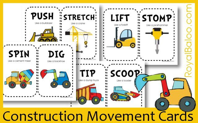Construction movement cards