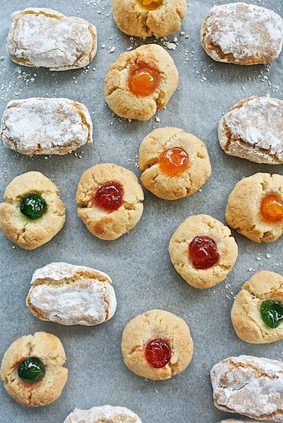 Paste Di Mandorle Or Italian Christmas Almond Pastries From