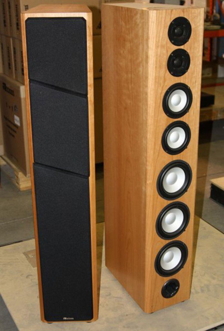 Axiom M100 Floor-standing Speakers - Front/Side View