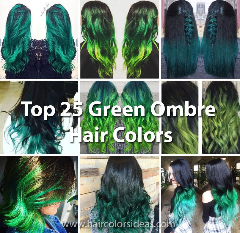 Top 25 Green Ombre Hair Colors Cute Hair Pinterest Ombre Hair