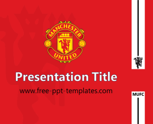 Manchester United Powerpoint Template Is A Red Template Which You