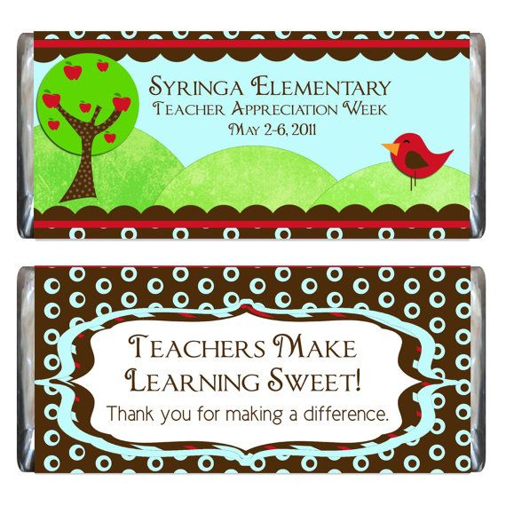 Teacher Appreciation Candy Bar Wrapper and by iwant2remember #eceappreciationgiftideas