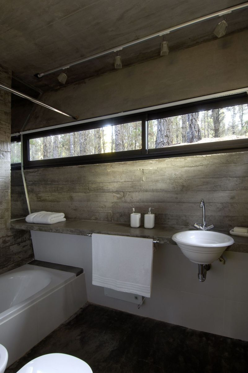 concrete bathroom sinks that make a strong statement without any