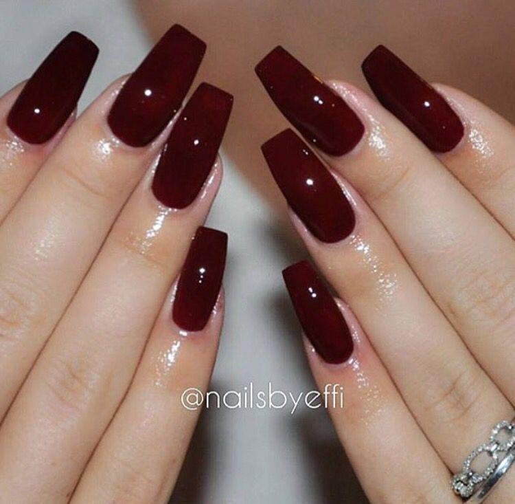Dark red nails - Dark Red Nails Red Nails In 2018 Pinterest Nails, Red Nails