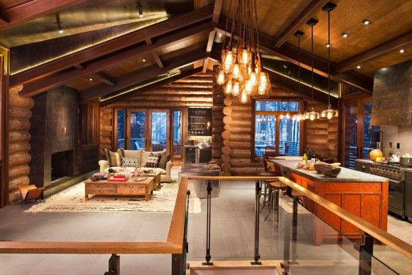 mountain cottage traditional interiors | By 1 Kindesign | Categories: Architecture | 1 Comment