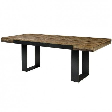 Graham Industrial Reclaimed Wood 84 Dining Table Industrial Dining Table Reclaimed Wood Table Dining Table