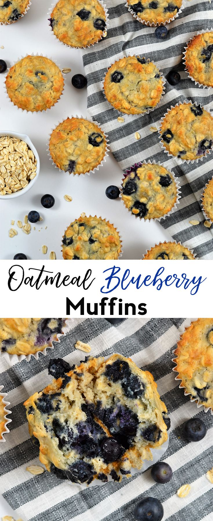Healthier Oatmeal Blueberry Muffins #healthyliving