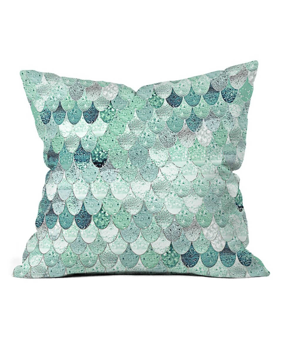 Take a look at this Monika Strigel Lily Mint Mermaid Throw Pillow today!
