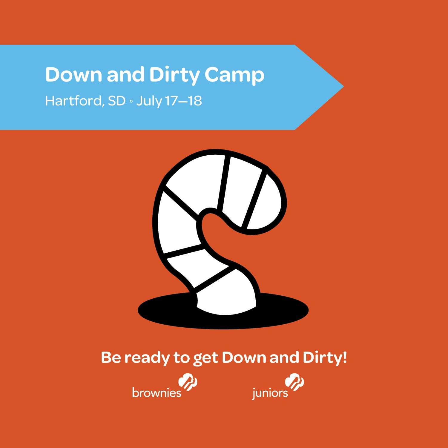 Got Dirt? We Do! Be ready to get dirty when you come to this camp. There will be flower bombs, composting, mud sculpture and maybe an earthworm race or two, but don't worry, you can wash all the dirt away with a swim in the lake.
