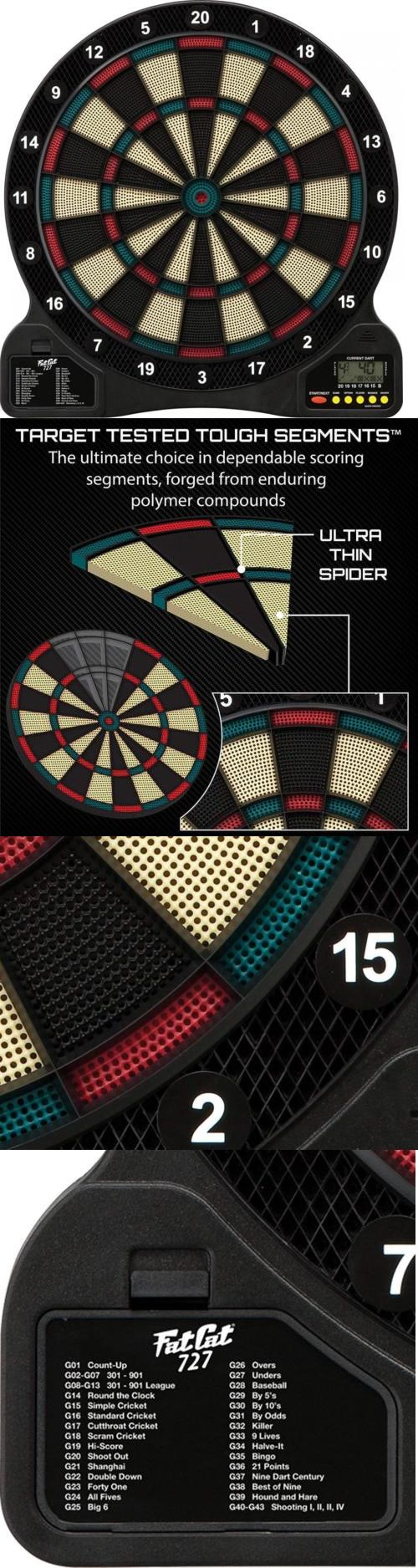 Dart Boards 72576 Fat Cat 727 Electronic Soft Tip Dartboard Buy