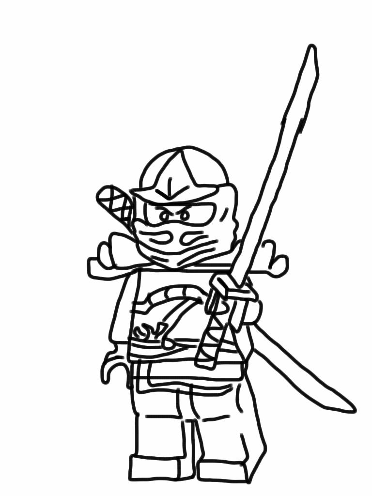 ninja halloween coloring page izabella bday pinterest