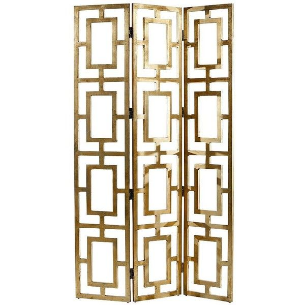Arteriors Home Guilded Gold Wood Screen Room Divider ($1,584) ❤ liked on Polyvore featuring home, home decor, panel screens, decor, furniture, screens, brown, cabinets and storage, wooden screen and wood panel screen