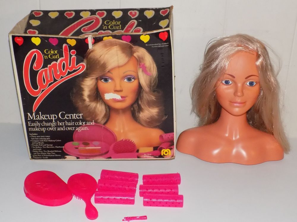 Vintage Mego Color N Curl Candi Makeup Center Hair Styling Doll Head Doll Head Hair Styles Curls