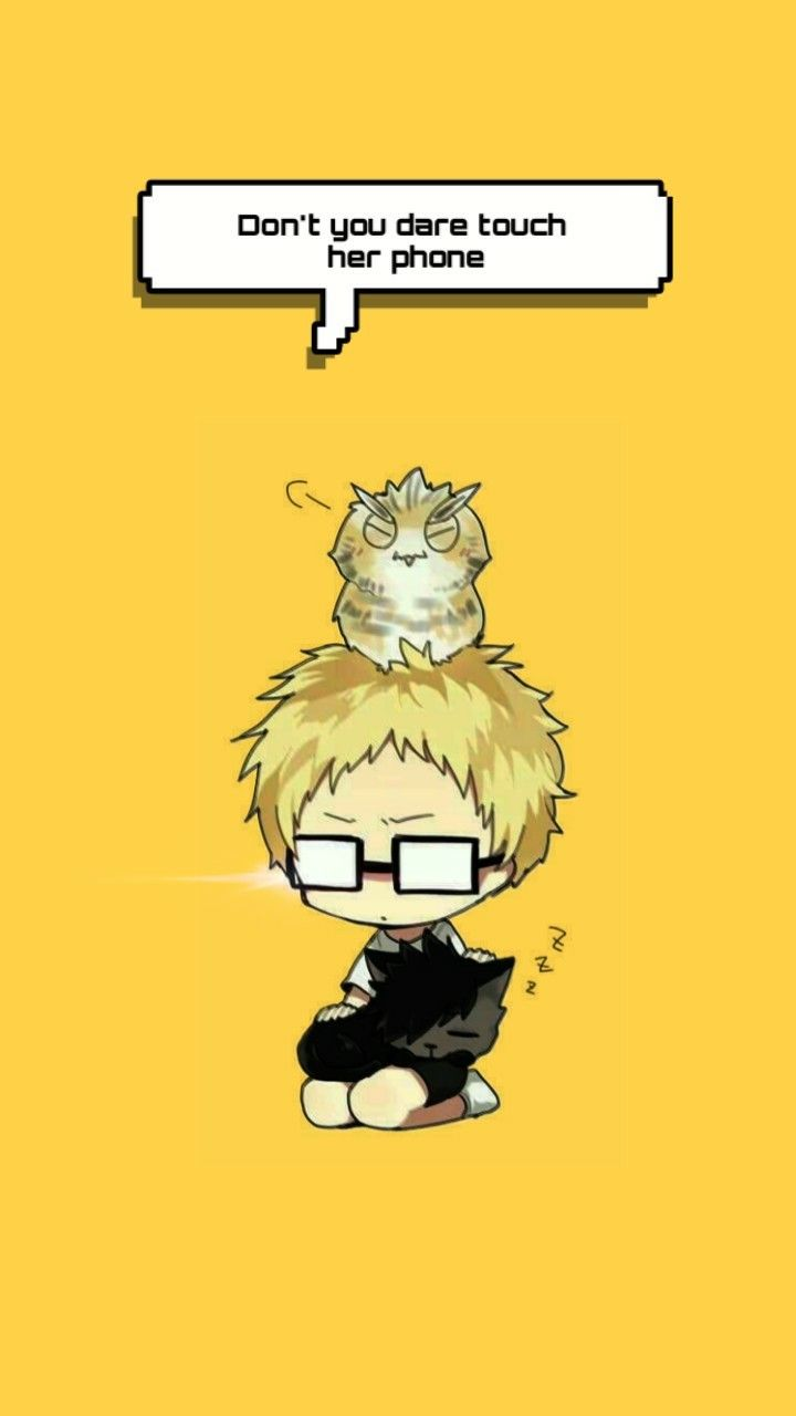 Kei Tsukishima Wallpaper Don T Touch My Girlfriend S Phone In 2020 Haikyuu Anime Haikyuu Anime Wallpaper