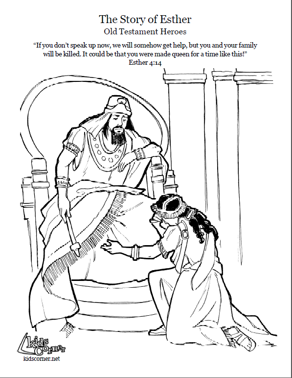 story of esther coloring page script and bbile story http - Esther Bible Story Coloring Pages