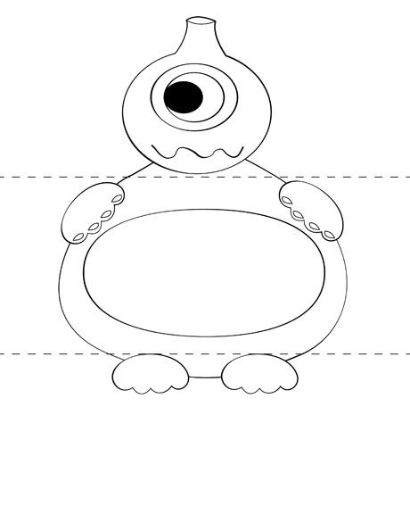 printable make your own monster craft from print cut paste craftcom - Kids Craft Templates