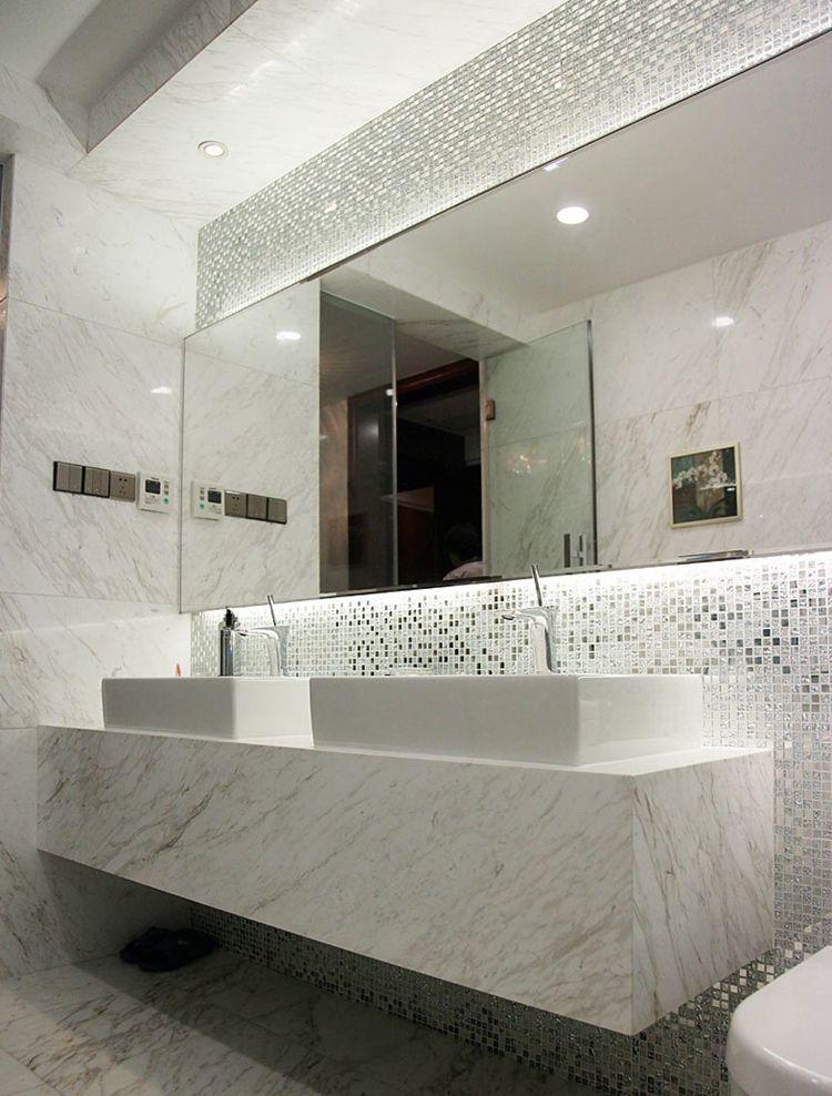 Mirrored Tile Backsplash 13 Beveled Silver Crystal Mirror Gl Mosaic Tiles Kitchen