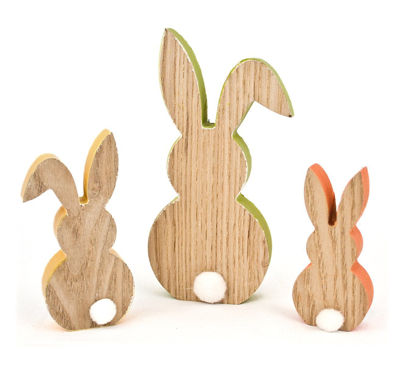 3x deko figur osterhase hase silhouette aus holz 18 12 10cm osterdeko fr hlingsdeko just. Black Bedroom Furniture Sets. Home Design Ideas