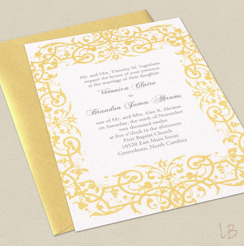 Lbcreativepaper Wedding Invitations Wedding Invitation Samples Yellow Wedding Invitations