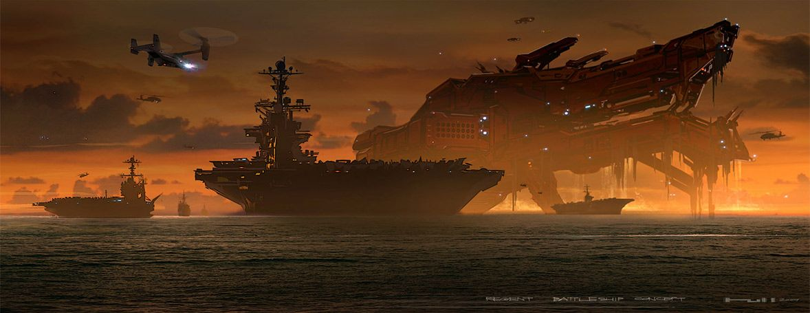 Battleship concept art by George Hull