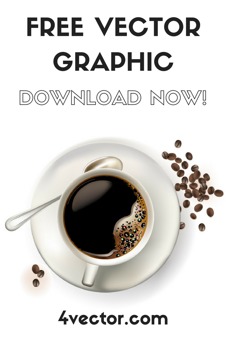 Cute espresso coffee cup vector graphic available for free