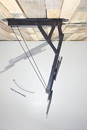 """Electric Motorized Flip Down Pitched Roof Ceiling TV Mount for 23/"""" to 55/"""" Screen"""