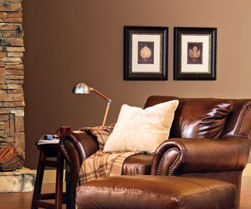 Decorating in Woodland Colors   Chocolate walls, Warm living rooms
