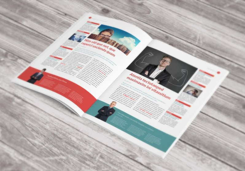 free newsletter template  stock indesign