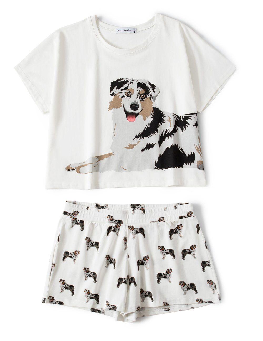 c0b1c8dea9b Set - Australian Shepherd Two Piece Pajama Set