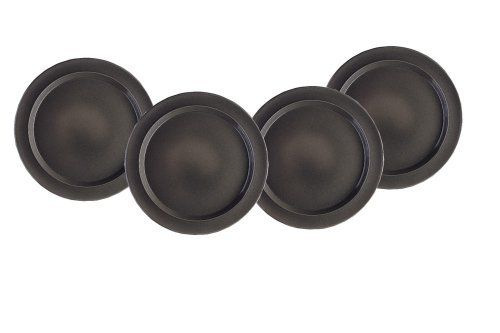 emile henry 8 inch salad dessert plates set of 4 slate by emile henry durable. Black Bedroom Furniture Sets. Home Design Ideas