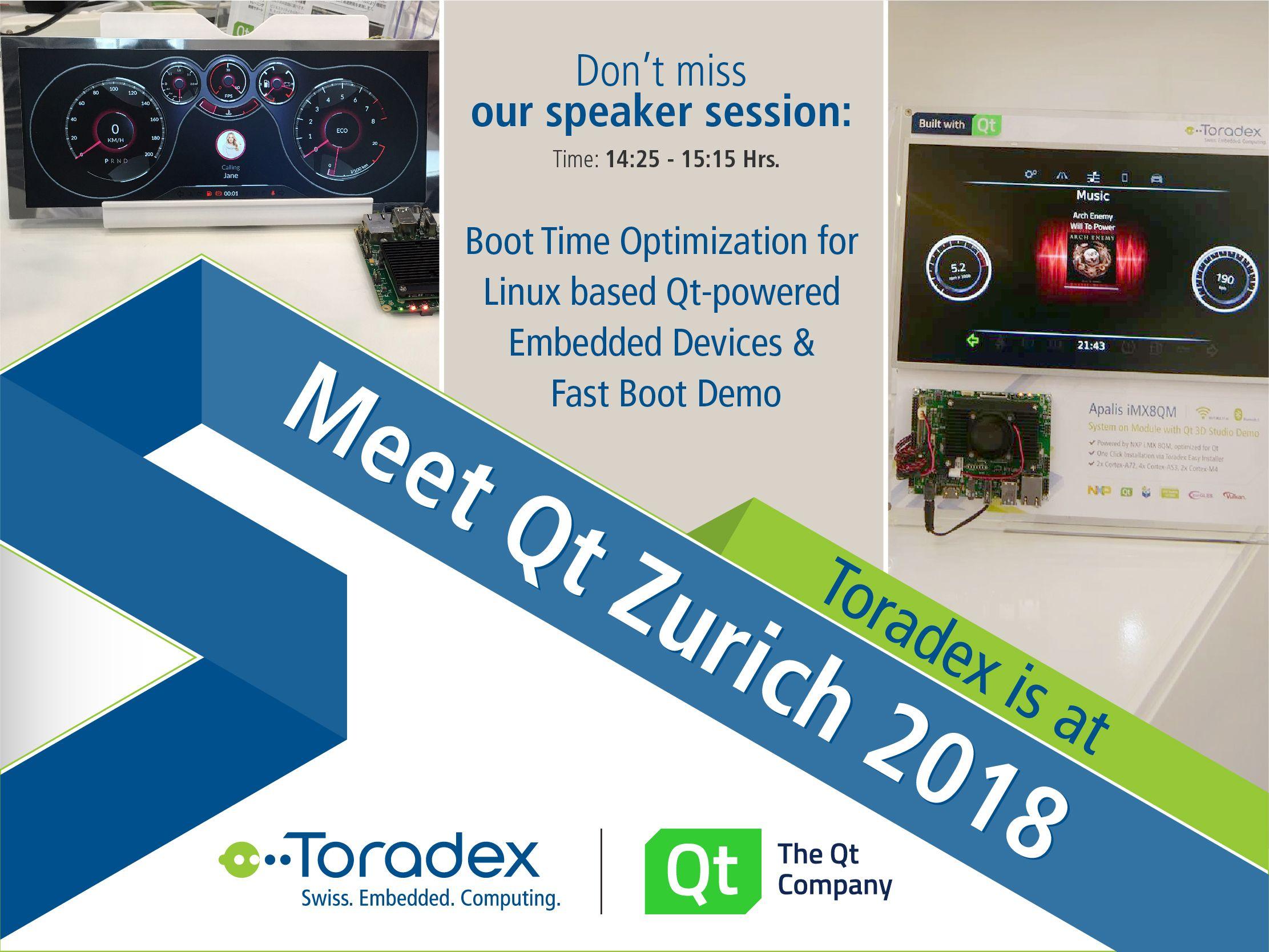 Toradex is present at the 'Meet Qt Zurich' today in #Zurich