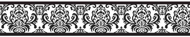 simple damask border wallpaper - HD4454×800
