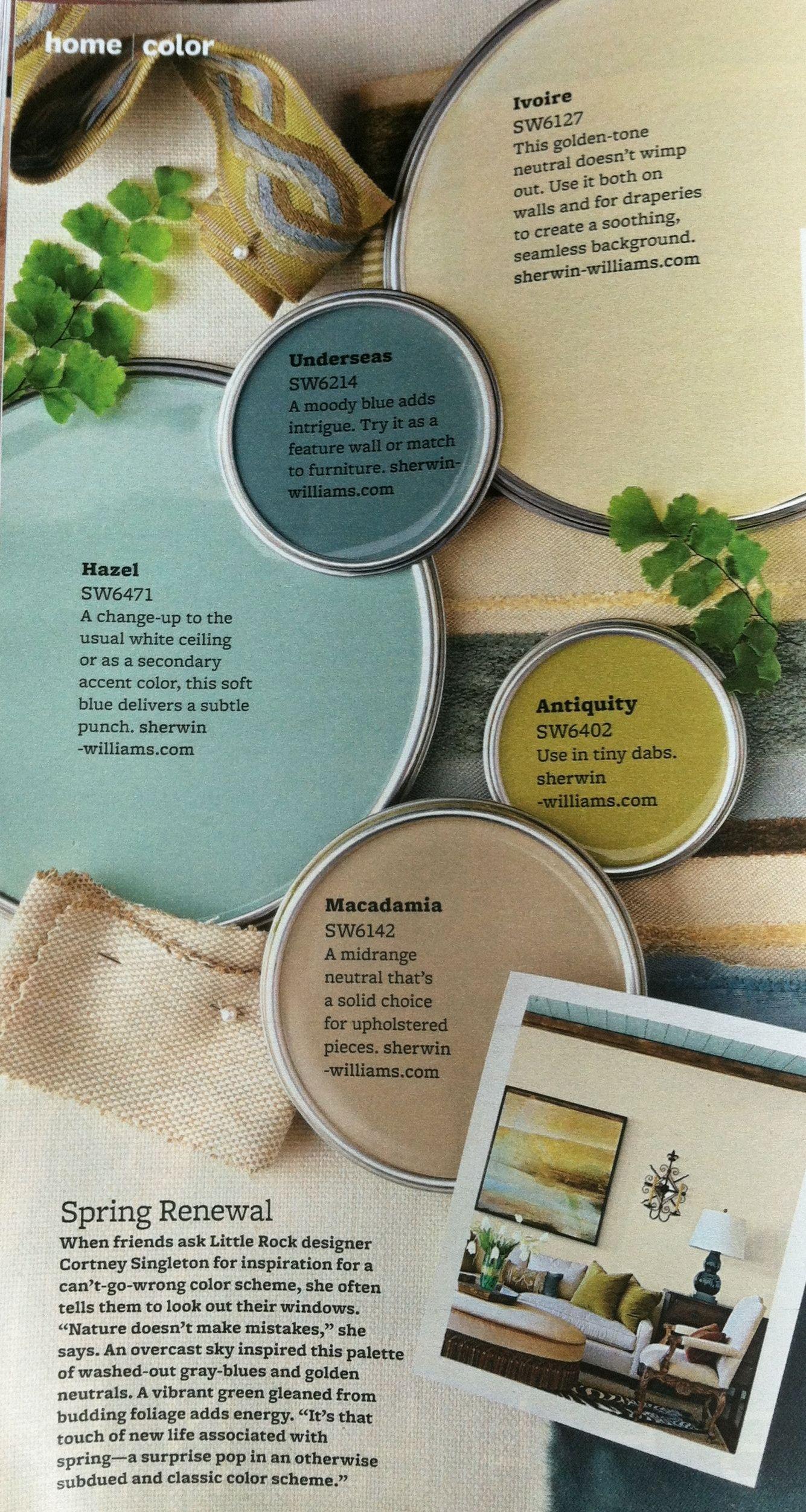 Interior Color Schemes Green Paint ColorsLiving