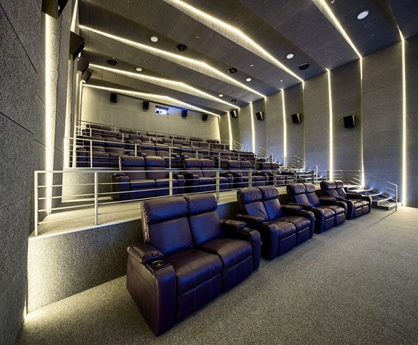 Multiplex Atmocphere Cinema On Interior Design Served Cinema Architecture Modern Architecture Building Modern Architecture