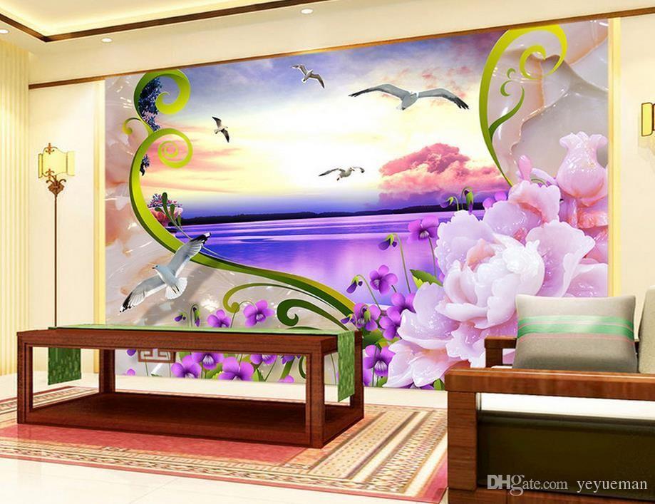 Custom 3d Wallpaper Murals Seaview Sculpture Wallpaper For Walls Mural 3d Decor Background Kitchen Wallpaper H 3d Wallpaper Mural 3d Wall Murals Wall Wallpaper
