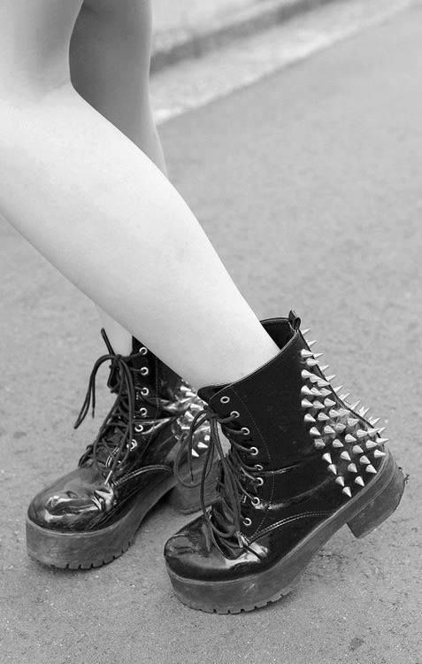 #boots #spikes #goth #combatboots #fashion #style #emo